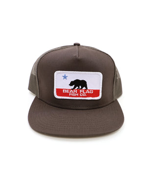 The Bear Flag Mesh Trucker Hat - Bear Flag Fish Co.
