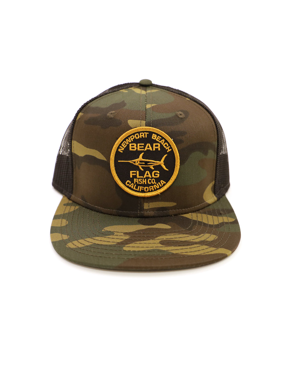 Newport Mesh Trucker Hat - Bear Flag Fish Co.