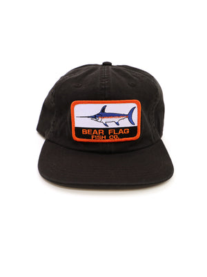 The Marlin Patch Hat — Black - Bear Flag Fish Co.