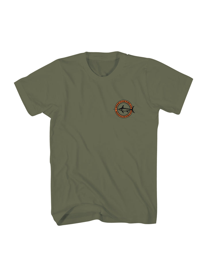 Icon Short Sleeve Military Green - Bear Flag Fish Co.