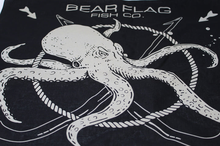 Bear Flag Octopus Bandana - Bear Flag Fish Co.