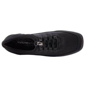 Women's Comfort Sneaker - Alton in Black Lycra
