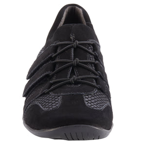 Audio Sporty Casual: Black Matte Snake Print and Black Nubuck