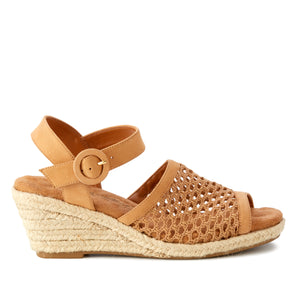 Avery: Camel Nubuck/ Camel Crochet Fabric NEW