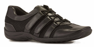 Audio Sporty Casual: Black Leather with Mesh LIMITED STOCK
