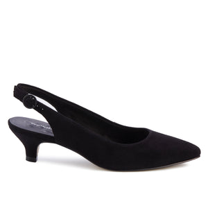 Belle Sling-back Pump: Black Suede NEW