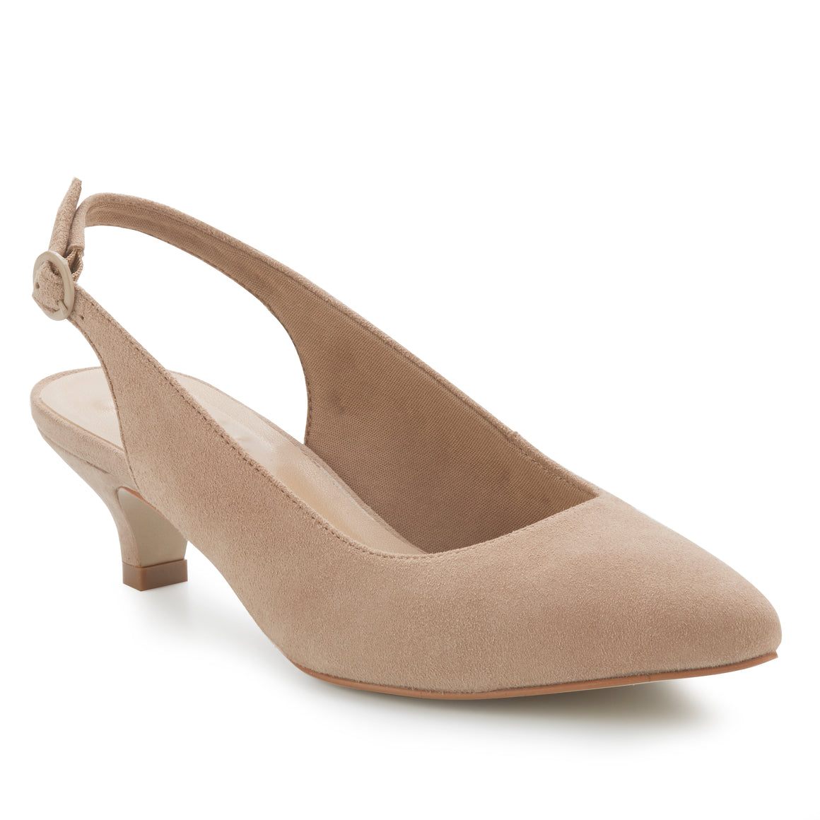 Belle: Light Taupe Suede NEW