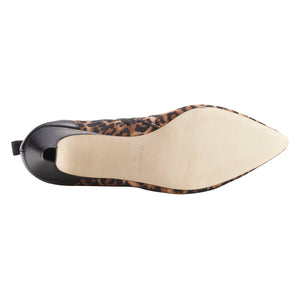 Billie Bootie: Leopard Stretch Fabric and Black Leather
