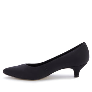 Bobbi Pump: Black Micro Fabric NEW