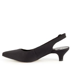 Belle Sling-back Pump: Black Micro Fabric
