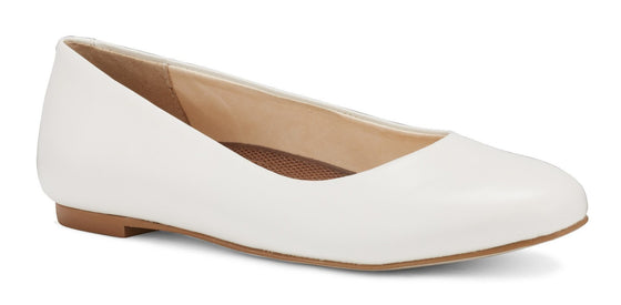 Bronwyn: White Soft Leather