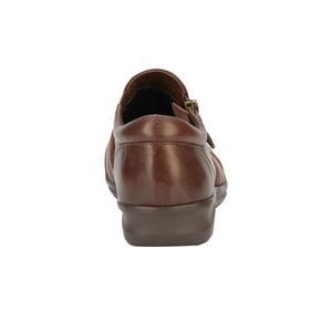 Camden Casual Slip-On: Brown Leather and Patent Lizard Print