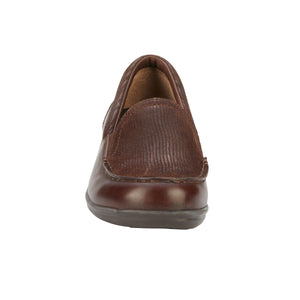 Clayton Casual Slip-On: Brown Leather and Patent Lizard Print NEW