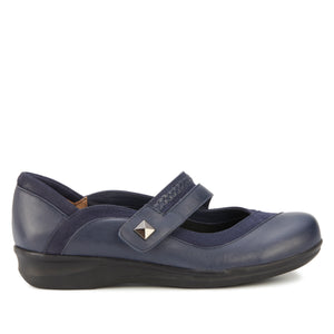 Clover Casual: Navy Nappa Leather and Nubuck