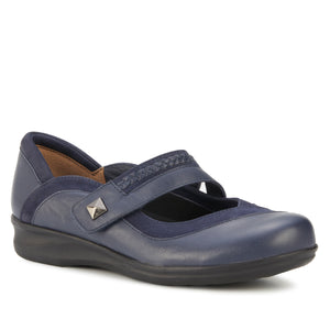 Clover: Navy Nappa Leather/Nubuck NEW