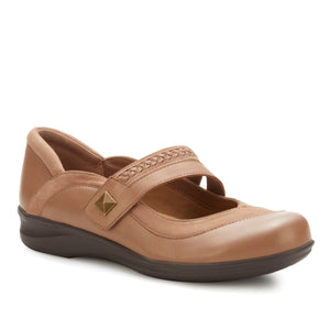 Clover: Warm Taupe Nappa Leather/Nubuck NEW