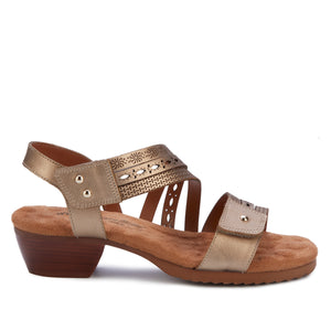 Conway Adjustable Sandal in Gold