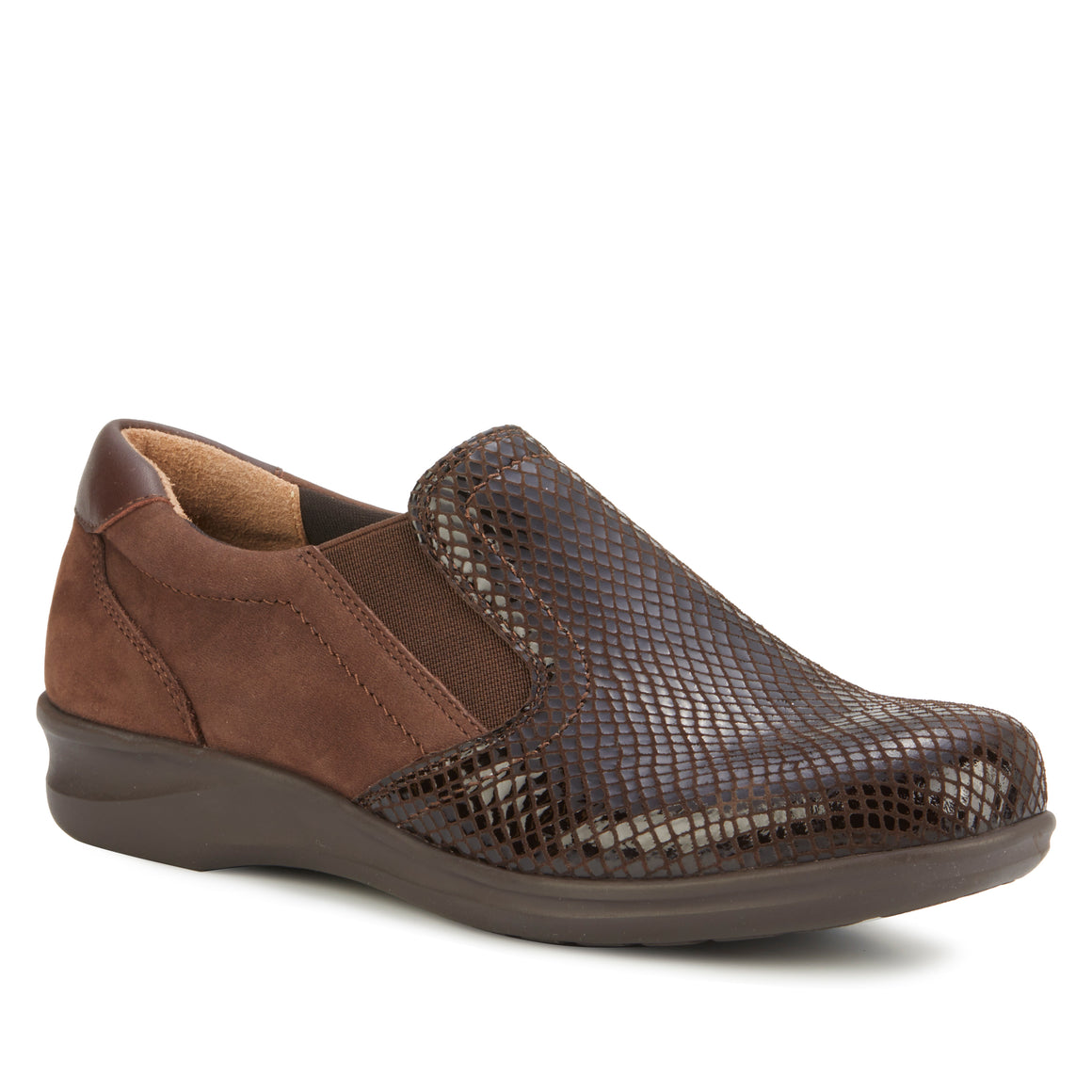 Cormick: Brown Patent Snake/Nubuck/Leather NEW