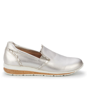 Delta Soft Silver Leather Slip-on Sneaker