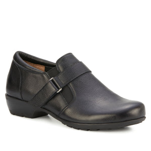 Eliot: Black Tumbled Leather NEW