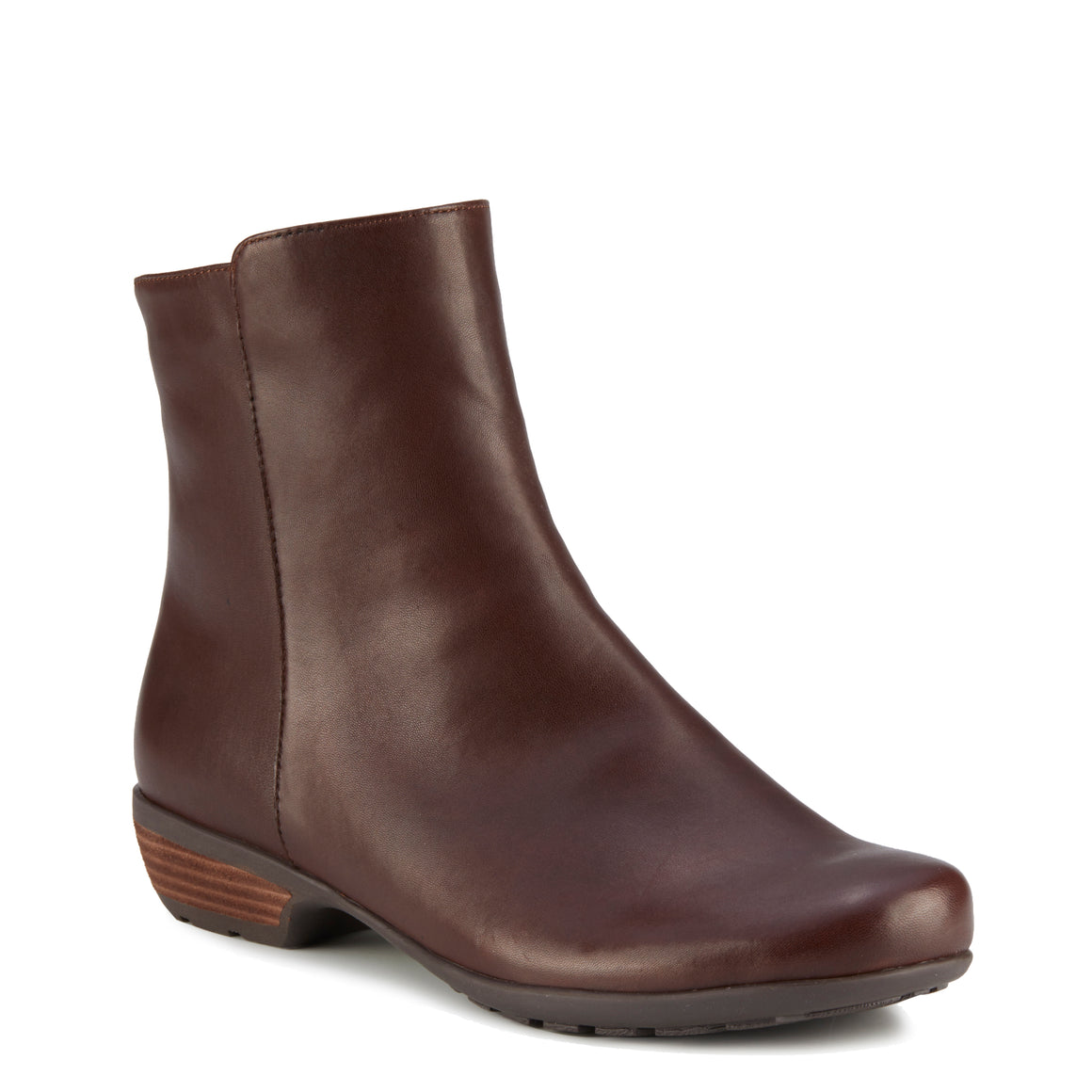 Elsie Bootie: Brown Leather LIMITED STOCK