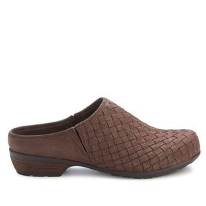 Emerson Clog: Brown Woven Leather NEW