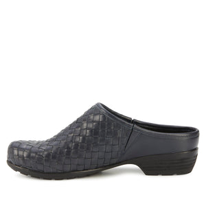 Emerson: Navy Woven Leather NEW