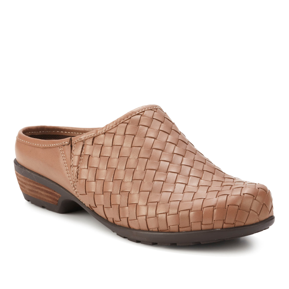 Emerson: Warm Taupe Woven Leather NEW