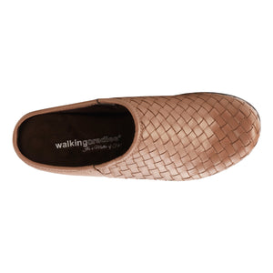 Emerson Clog: Warm Taupe Woven Leather NEW