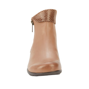 Emmy: Warm Taupe Leather/Patent Snake Print NEW