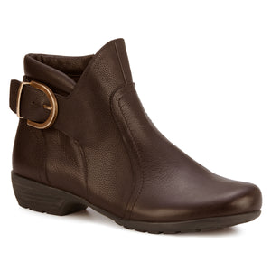 Ender Bootie: Brown Tumbled Leather LIMITED STOCK