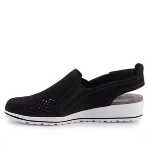 Faulkner Sporty Casual: Black Nubuck