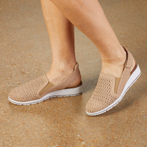 Faulkner Sporty Casual: Light Taupe Nubuck