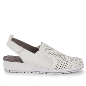 Faulkner Sporty Casual: White Leather NEW