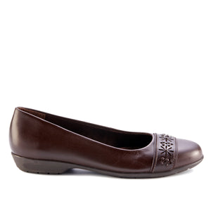 Francine Flat: Brown Leather