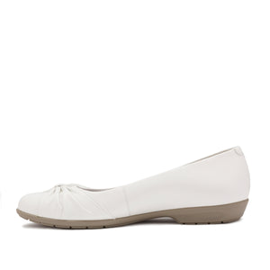 Fall Casual Flat: White Leather