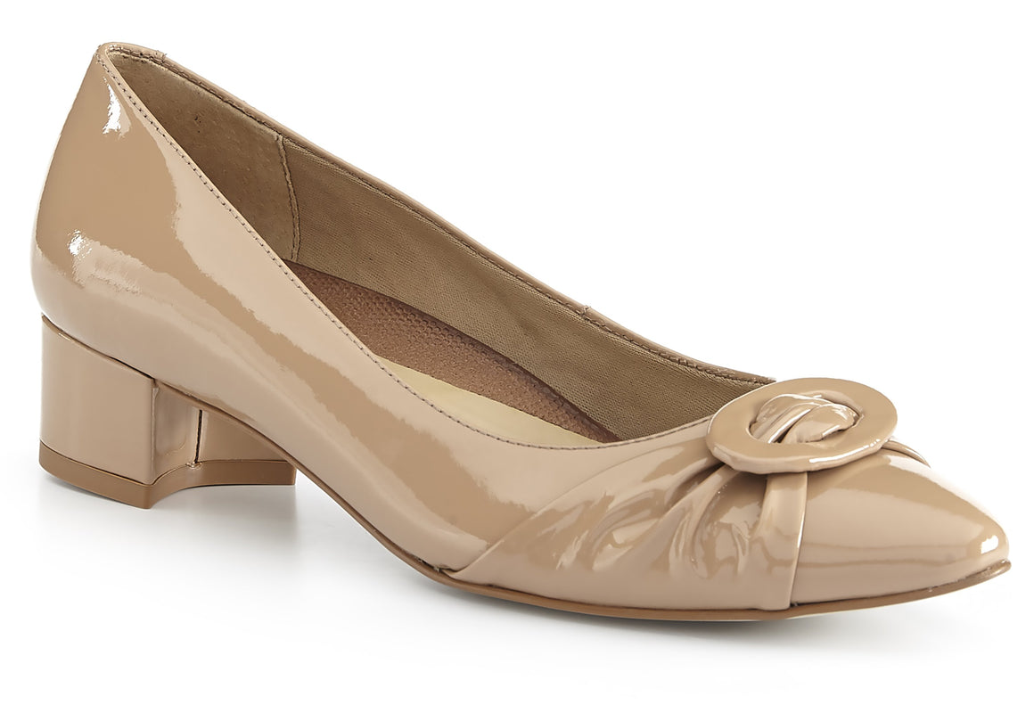 Harmony Pump: Nude Patent Leather