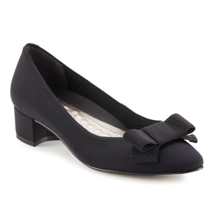 Harper Pump: Black Micro Fabric RESTOCKED