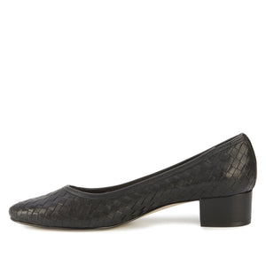 Harriet Pump: Black Nappa Leather