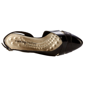 Hattie: Black Buhler Snakeskin/Black Patent NEW