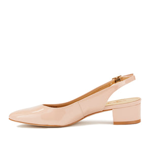 Hazel Sling-back Pump: Blush Patent Leather