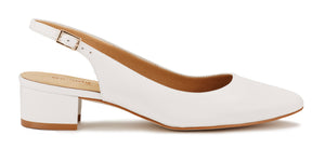 Hazel: White Leather