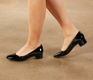 Heidi Pump: Black Patent Leather