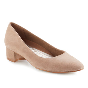 Heidi: Light Taupe Kid Suede