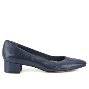Heidi Navy: Navy Mirage Textured Leather NEW