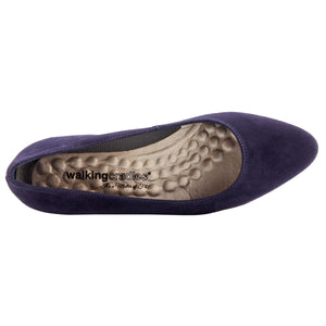 Heidi Pump: Navy Suede LIMITED STOCK