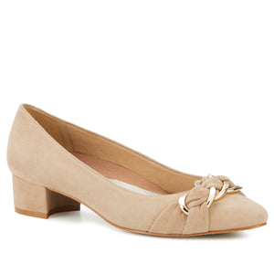 Hutton: Light Taupe Suede NEW