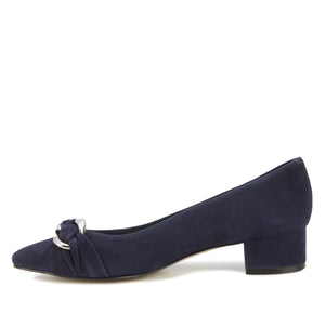Hutton Pump: Navy Suede NEW