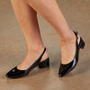 Hazel: Black Tumbled Patent Leather NEW