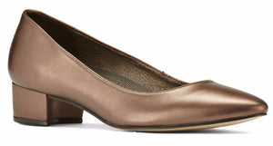 Heidi: Bronze Metallic Leather